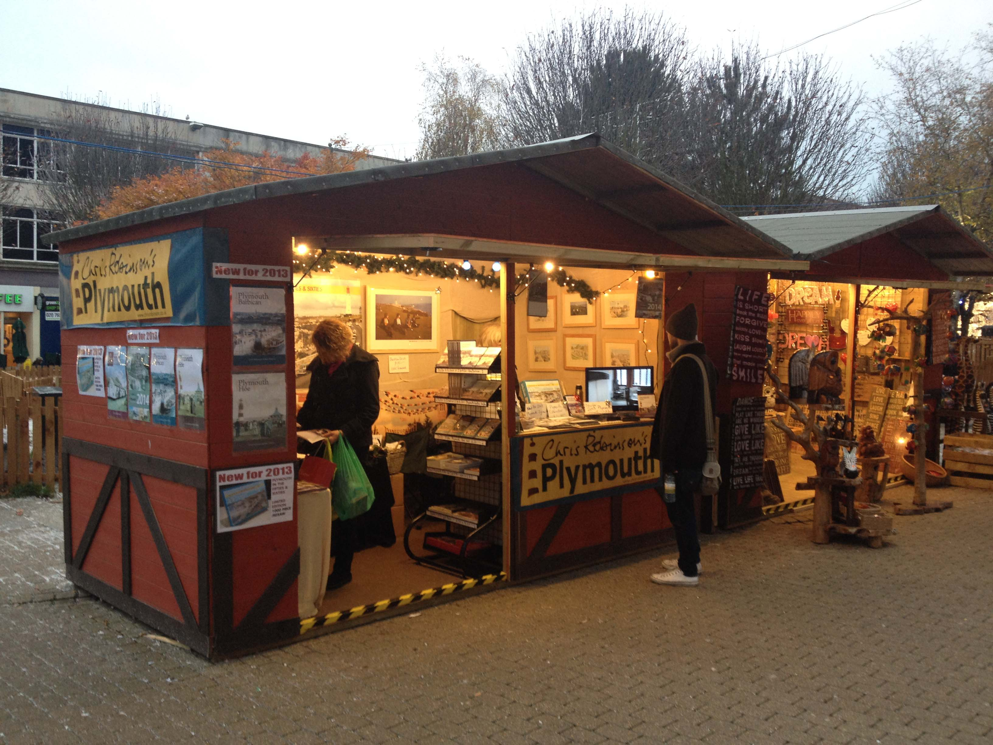The stall in the 2013 City Centre Christmas Market