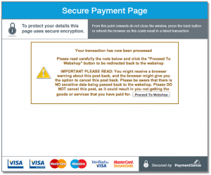 Payment Sense Secure Payment Page